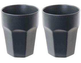 Mugs en céramique Facette (Lot de 2) (Anthracite)