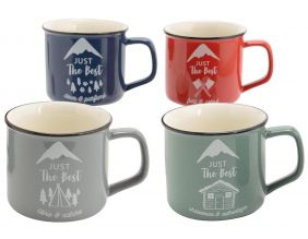 Mugs en porcelaine Just the best (Lot de 4)