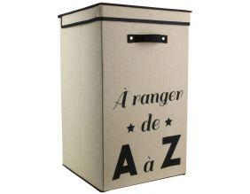 IDEBOX Cube de Rangement en Tissu Famille 30 cm