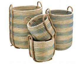 Cache-pots en jonc naturel (Lot de 4)