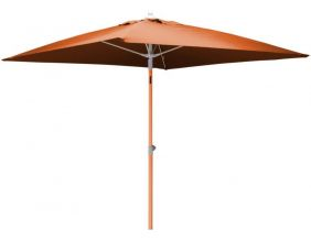 Parasol inclinable carré aluminium 2 mètres (Orange)