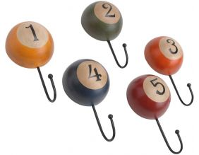 Patères boules de billard vintages (Lot de 5)