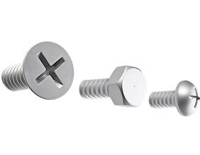 Patères vis Screw collection (Lot de 3) (Argent)