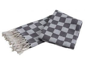 Plaid en coton damier