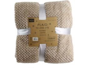 Plaid tie and dy XXL 150 x 200 cm (Beige)