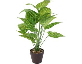 Plante verte artificielle en pot 55 cm