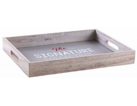 Plateau en bois gris The signature collection