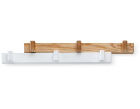 Porte-manteaux extensible Switch (Blanc/Naturel)