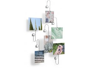 Portes photos fixations adhésives chrome (Lot de 6)