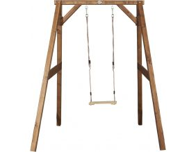 Portique en bois balançoire simple Swing (Naturel)