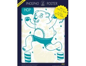 Poster phosphorescent 30 x 40 cm (Grizzly)