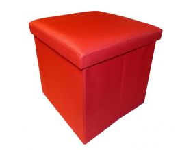 Pouf pliable Oxford (Rouge)