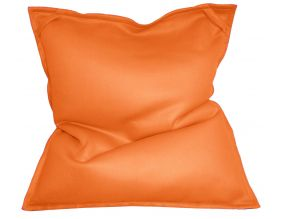 Pouf géant piscine couleur en toile polyester Mesh (Orange tropical)