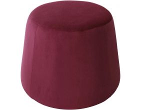 Pouf en velours Dome (Bordeaux)