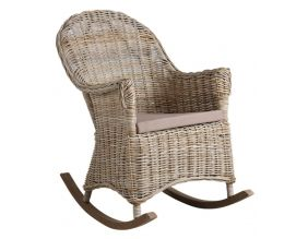 Rocking chair en poelet gris Kresek