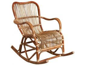 Rocking chair en rotin naturel Paya