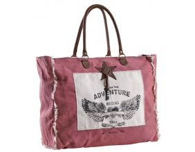 Sac en coton décor Adventure (Rose)