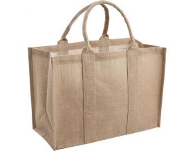 Sac en jute plastifiée (Naturel)