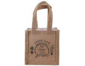 Sac à plantation en jute plastifiée My Little Market (14 cm)