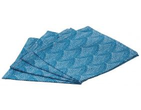 Serviette de table en coton (Lot de 4) (Bleu)