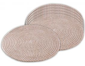 Set de table rond en jute (Lot de 6)