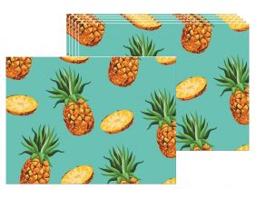 Set de table en vinyle Ananas (Lot de 6)