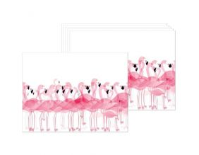 Set de table en vinyle Flamants roses (Lot de 6)