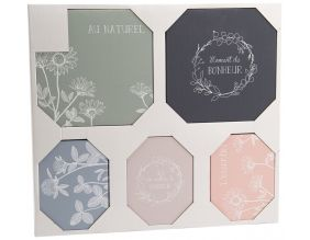 Set de 5 toiles canvas Eco chic