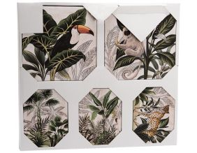 Set de 5 toiles canvas Jungle