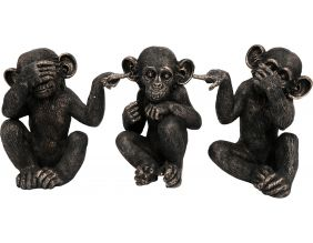 Singes sages en résine 67 cm (Lot de 3)