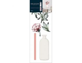 Sticker mural Vase bouquet de Pivoines