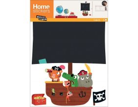 Sticker mural en ardoise pirates