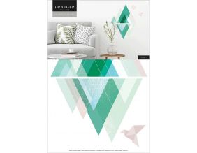 Sticker mural style scandinave montagnes 26x36 cm