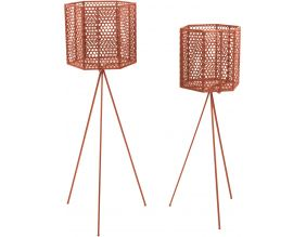 Support à pots de fleurs hexagonales Mesh (Lot de 2) (Marron)