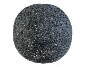 Suspension boule colorée 30 cm (Gris)
