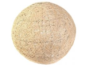 Suspension boule colorée 30 cm (Beige)