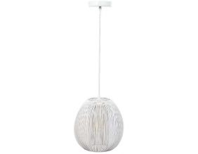 Suspension boule filaire 26 cm Maia (Blanc)