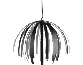 Suspension design en aluminium Willow (Noir et argent)