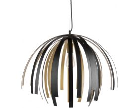 Suspension design en aluminium Willow (Noir et or)