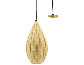 Suspension goutte en rotin naturel (Diamètre 23cm)
