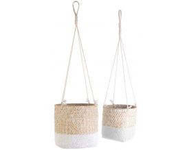 Suspension en jonc de mer My Little Market (Lot de 2) (Blanc)