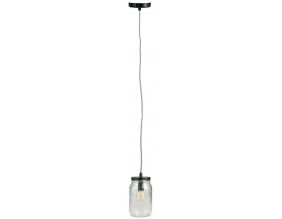 Suspension lumineuse mason jar en verre