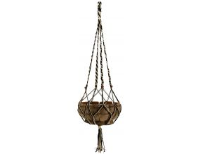 Suspension macramé bicolore en jute
