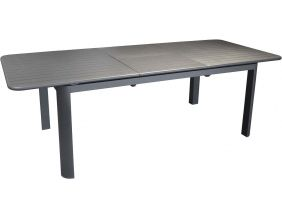 Table en aluminium avec allonge Eos 180-240 cm (Graphite)