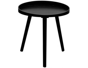 Table d'appoint en bois Moon 40 cm (Noir)