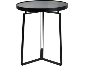 Table d'appoint métal plateau velours 50cm