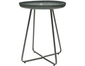 Table d'appoint plateau rond glossy (Vert d'eau)