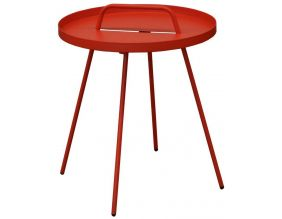 Table basse en acier Flower 44 cm (Rouge)