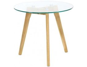 Table basse plateau en verre 50 cm