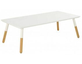 Table basse rectangulaire blanche Koppen